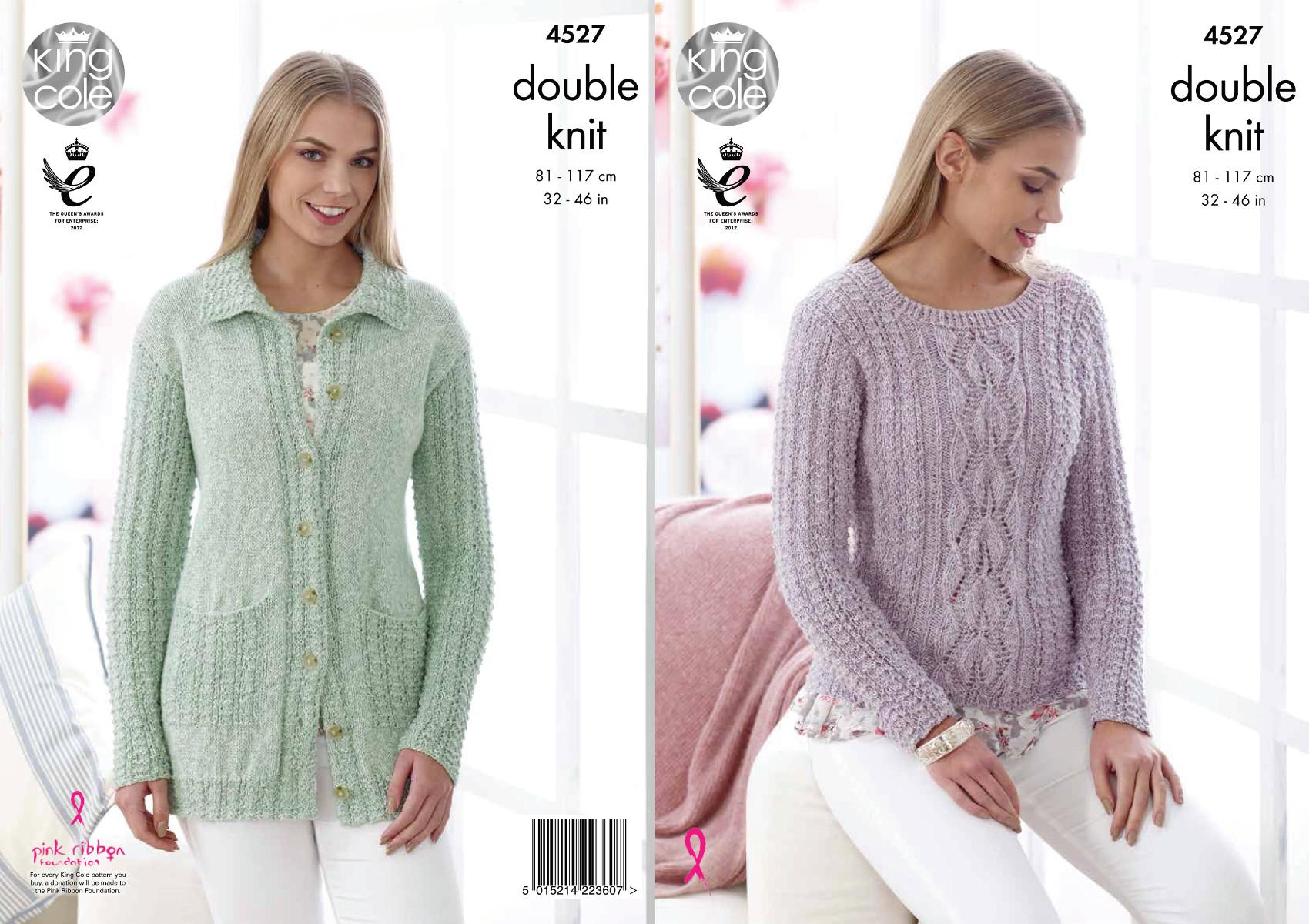 Dk Ladies Jacket Knitting Pattern : King Cole Womens Double Knitting Pattern Ladies Cardigan ...