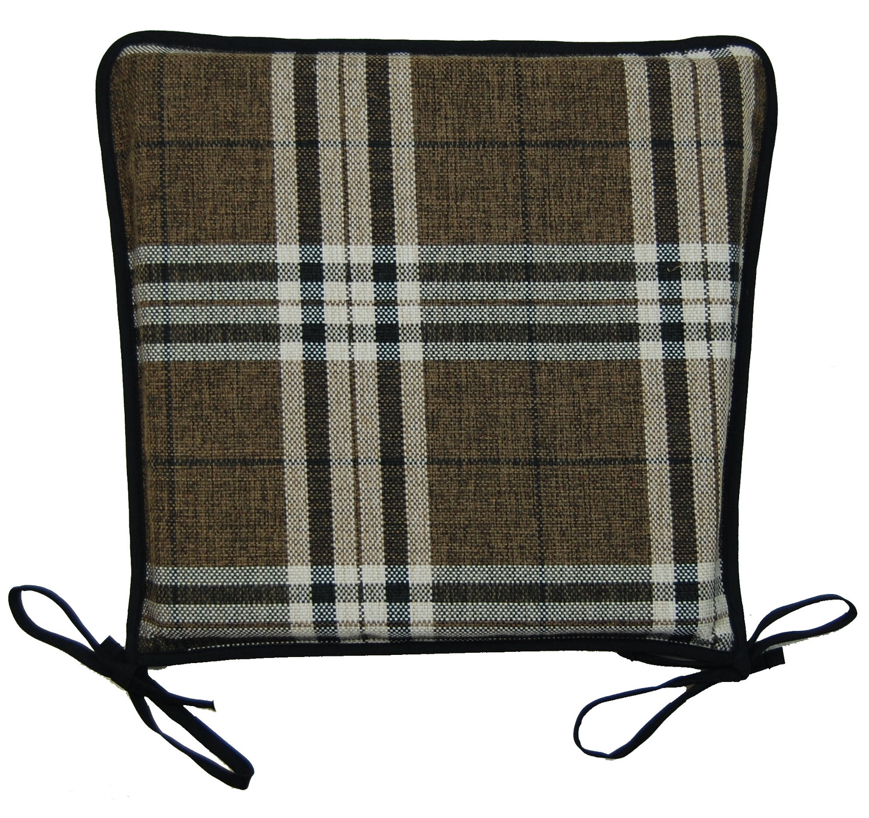Kitchen Seat Pad 100% Polyester Tartan Check Garden Dining Square
