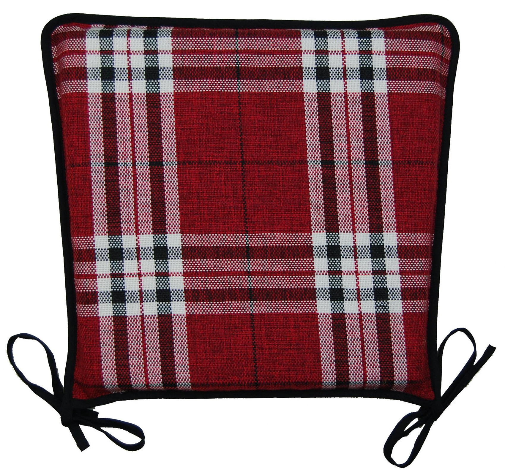 kitchen seat pad 100 polyester tartan check garden dining square chair