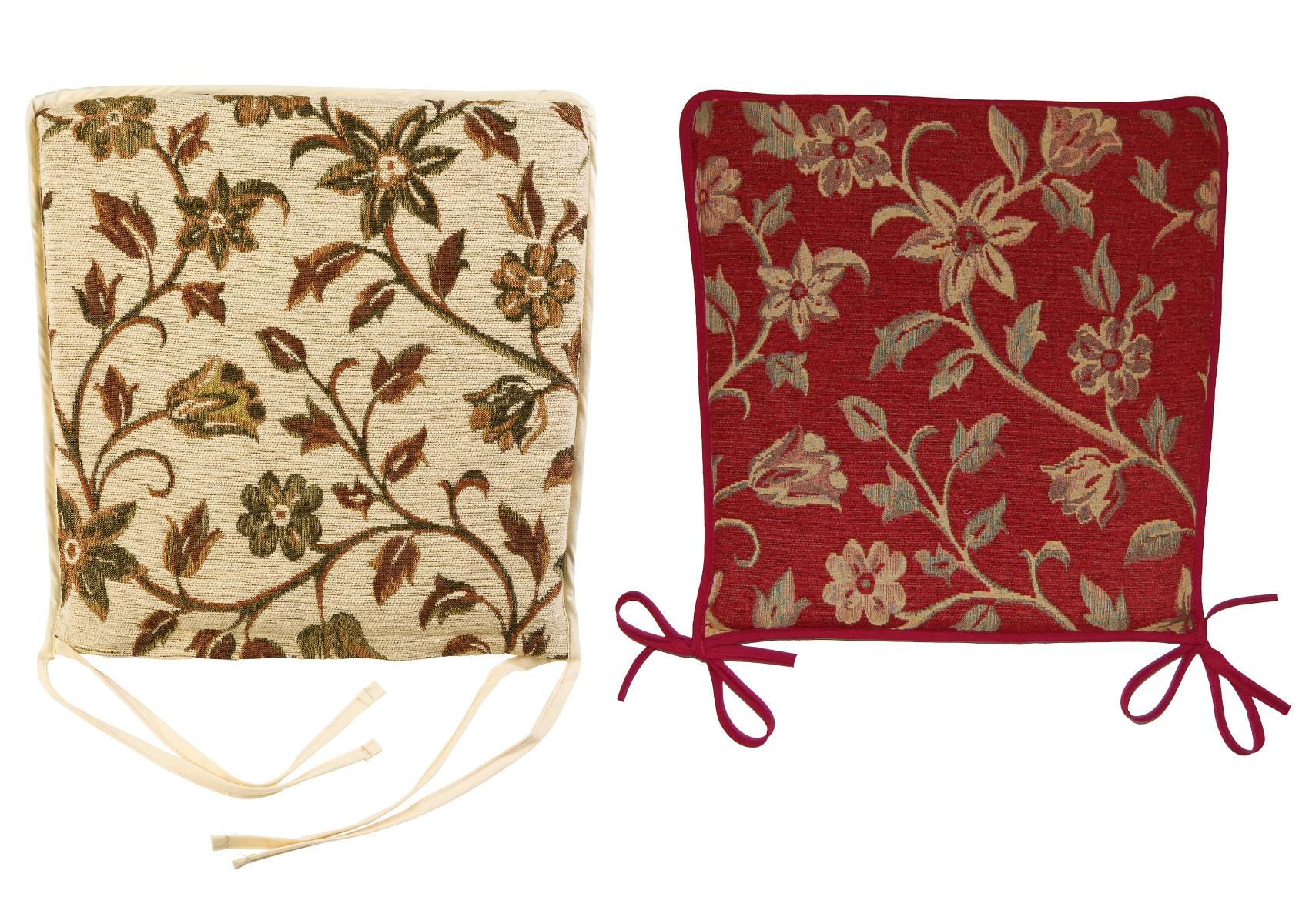 Garden Seat Pad Floral Tapestry Design Kitchen Dining