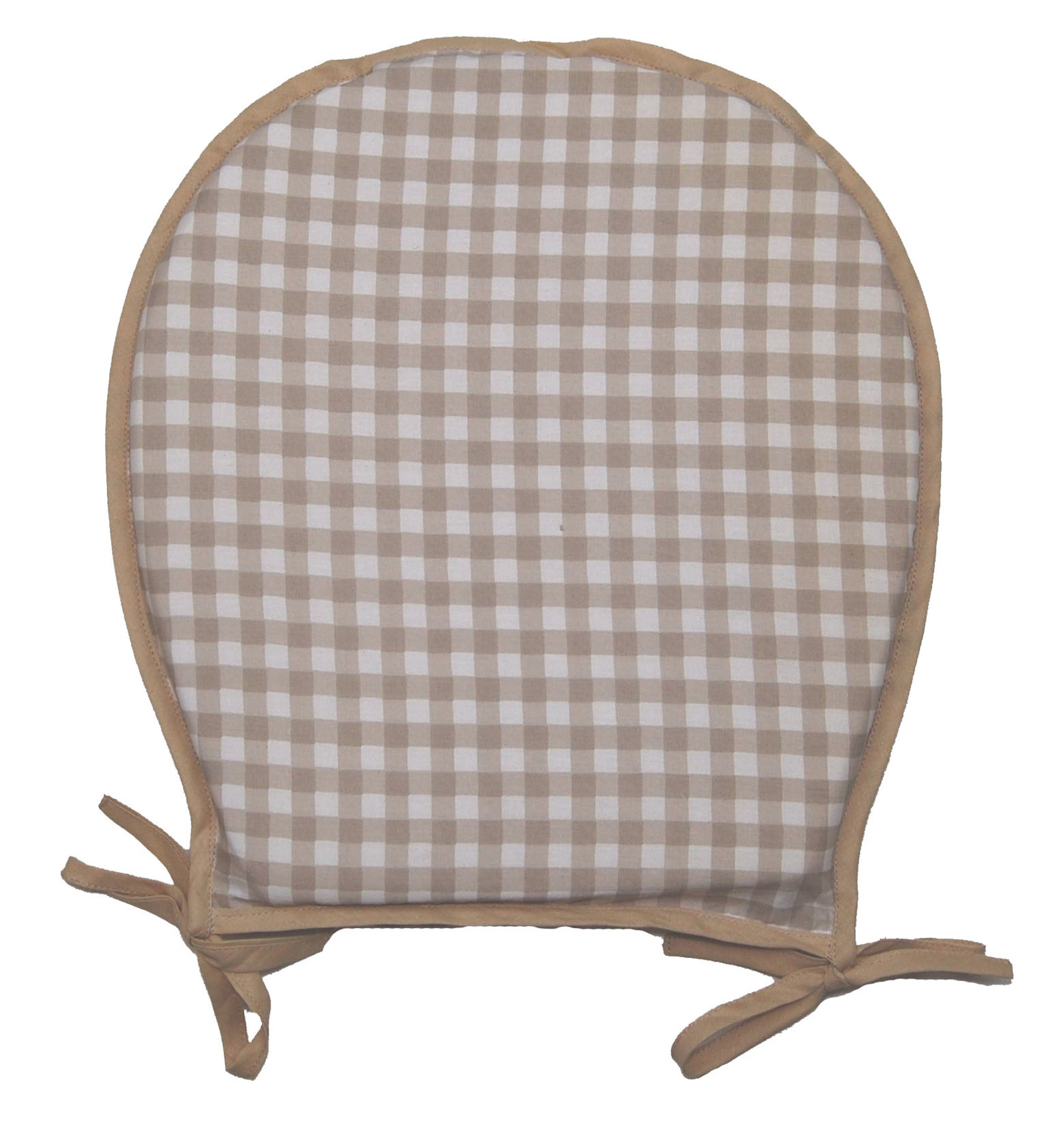 Garden Seat Pad 100% Cotton Gingham Check Kitchen Dining Outdoor