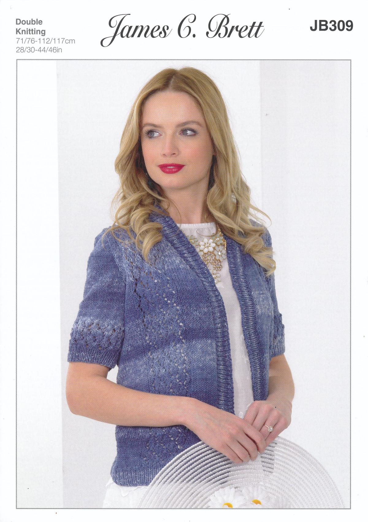 Double Knitting Ladies Jacket Pattern : James Brett Double Knitting Pattern Womens Lace Jacket ...