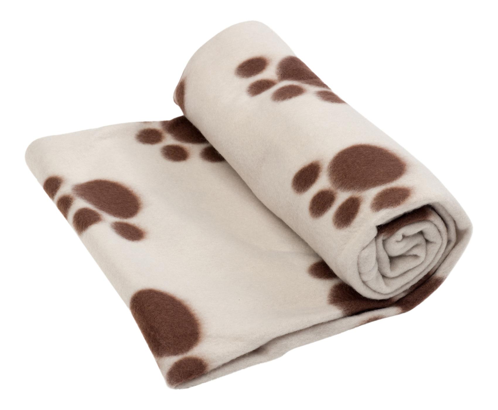 Petface Soft Fleece Comforter Dog Cat Blanket Beige Brown