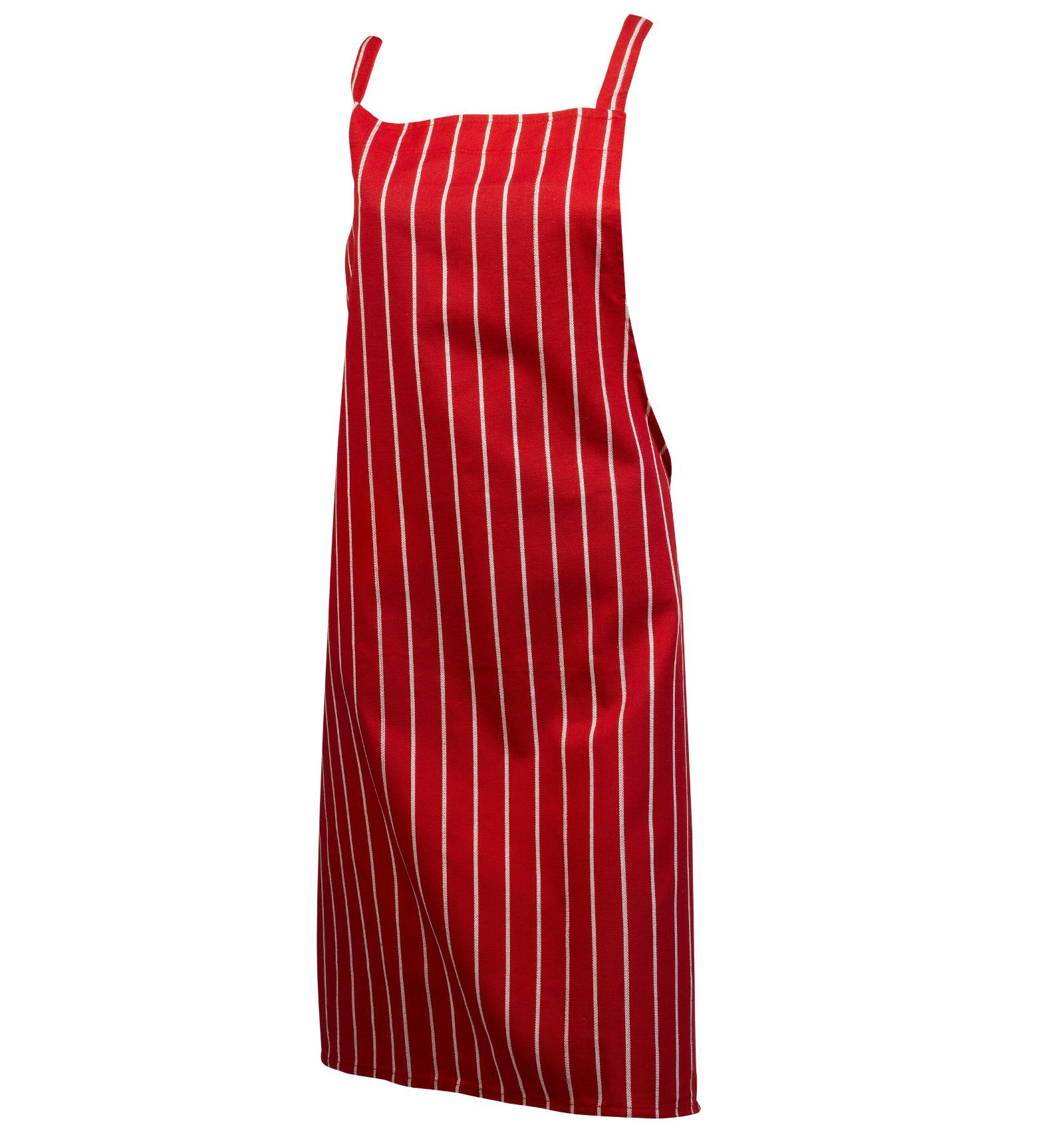 Plain white apron nz - 100 Cotton Woven Stripe Butchers Bib Apron Cooks