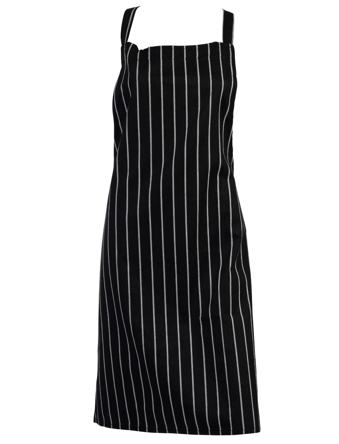 White apron ebay.ca - 100 Cotton Woven Stripe Butchers Bib Apron Cooks