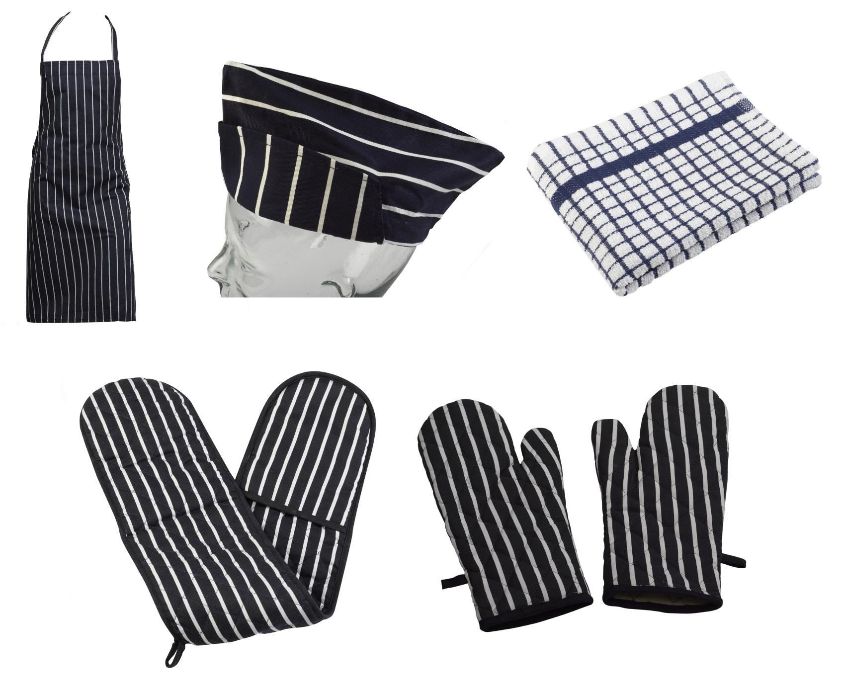 White apron ebay.ca - Image Is Loading 4 Piece Cotton Kitchen Linen Set Bib Apron