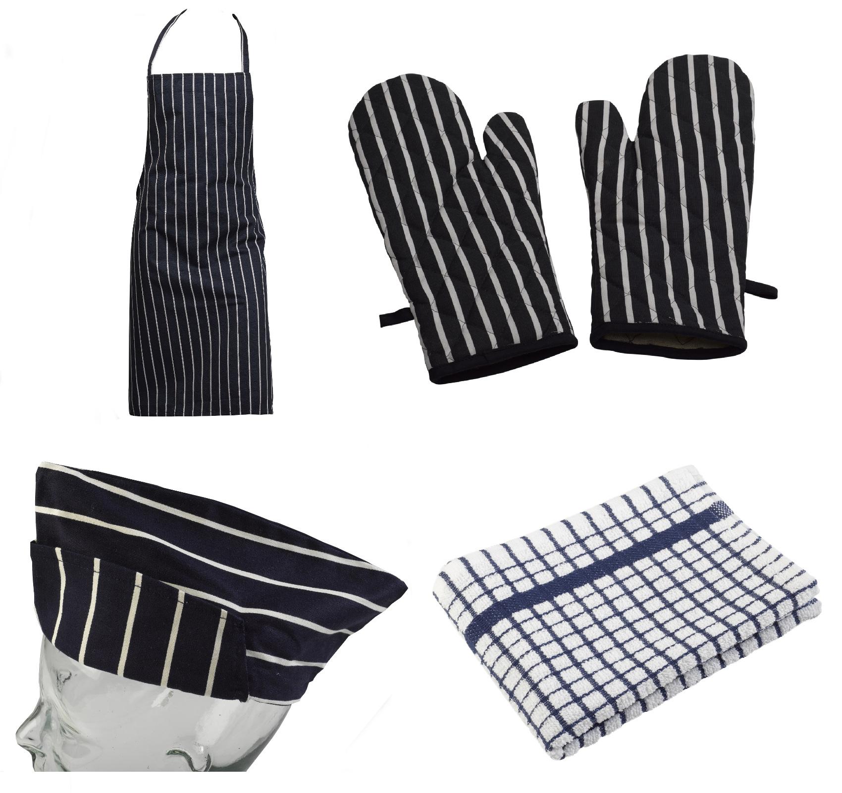 White apron ebay.ca - 4 Piece Cotton Kitchen Linen Set Bib Apron