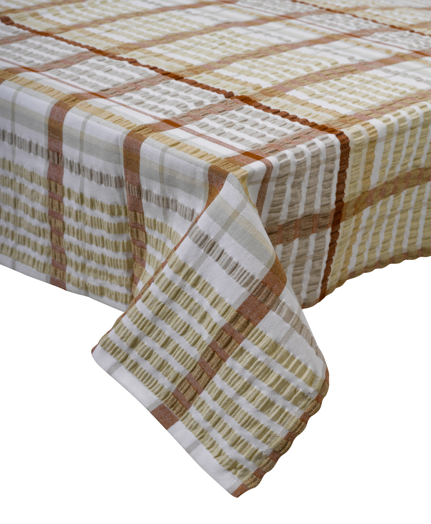 oatmeal bright seersucker checked tablecloth dining linen itm cotton room cloth table cloths traditional