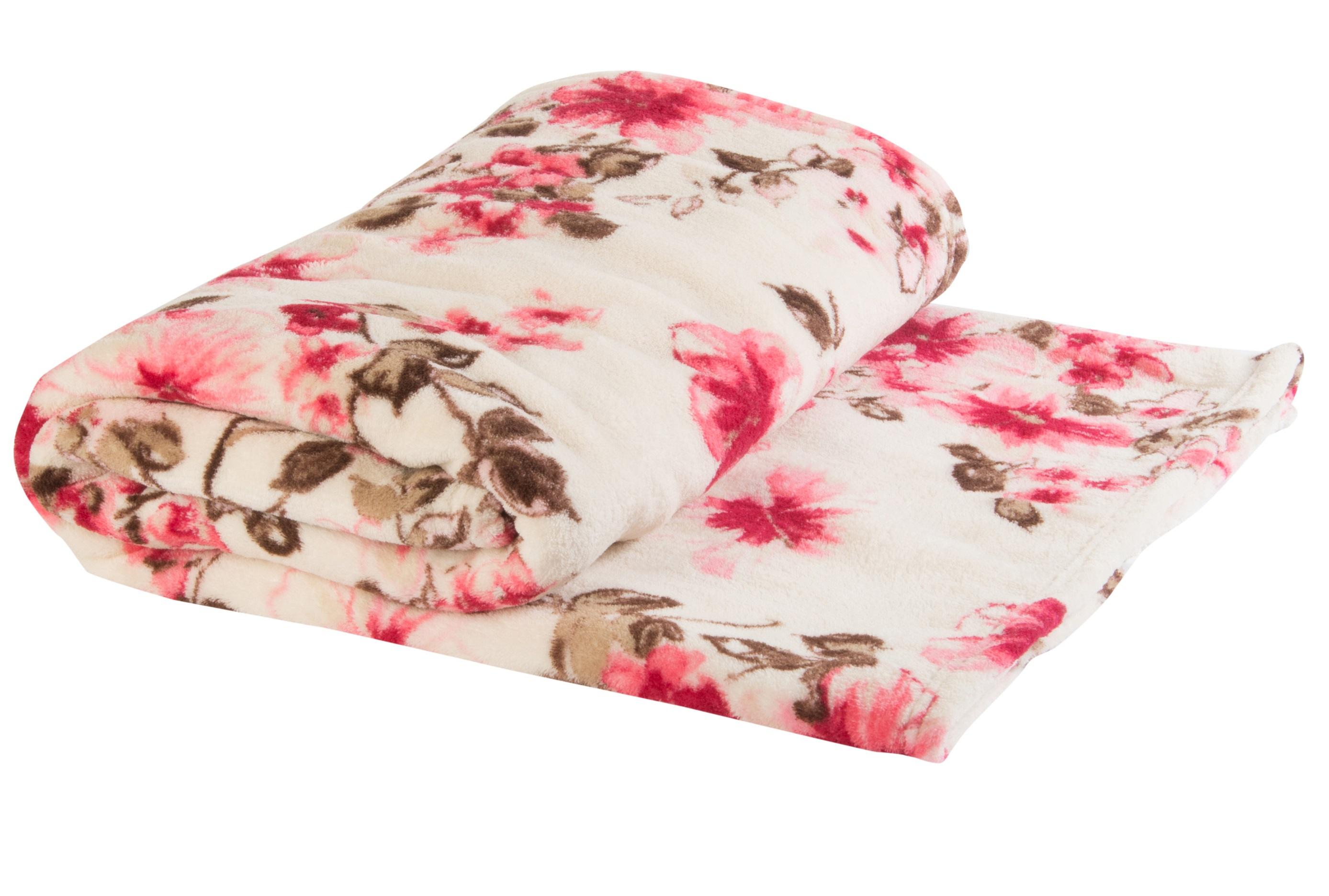 coral fleece blanket throw flower or butterfly luxury sofa bed  - coralfleeceblanketthrowflowerorbutterflyluxury