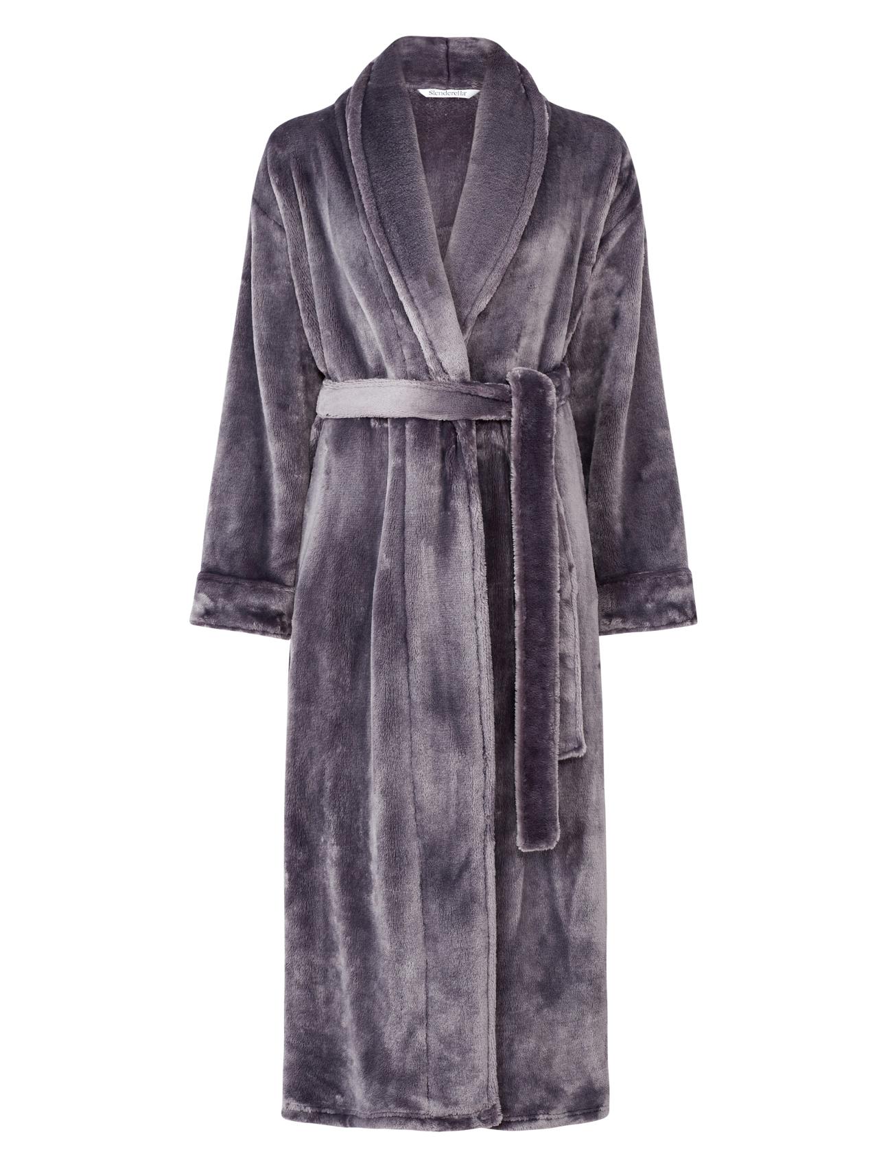 Slenderella Ladies Super Soft Thick Fleece Dressing Gown Shawl ...