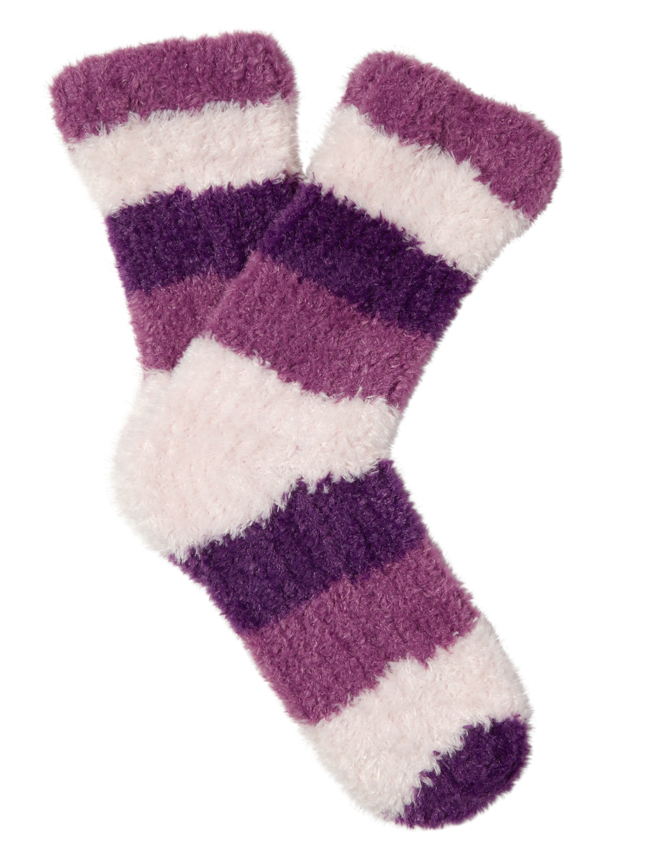 Womens Cosy Soft Fleece Bed Socks Slenderella Striped Fluffy Loungewear One S...
