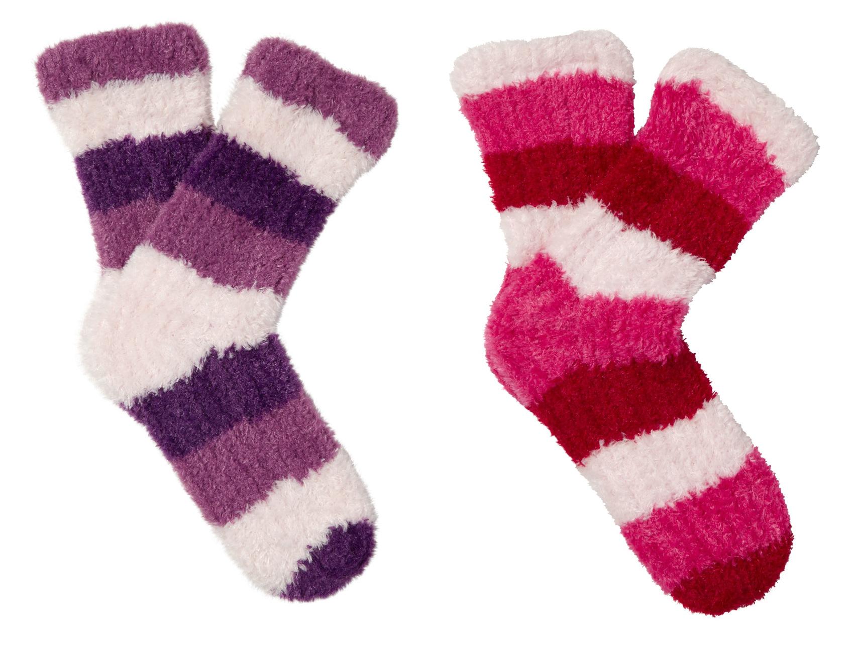 Womens Cosy Soft Fleece Bed Socks Slenderella Striped Fluffy Loungewear One S...