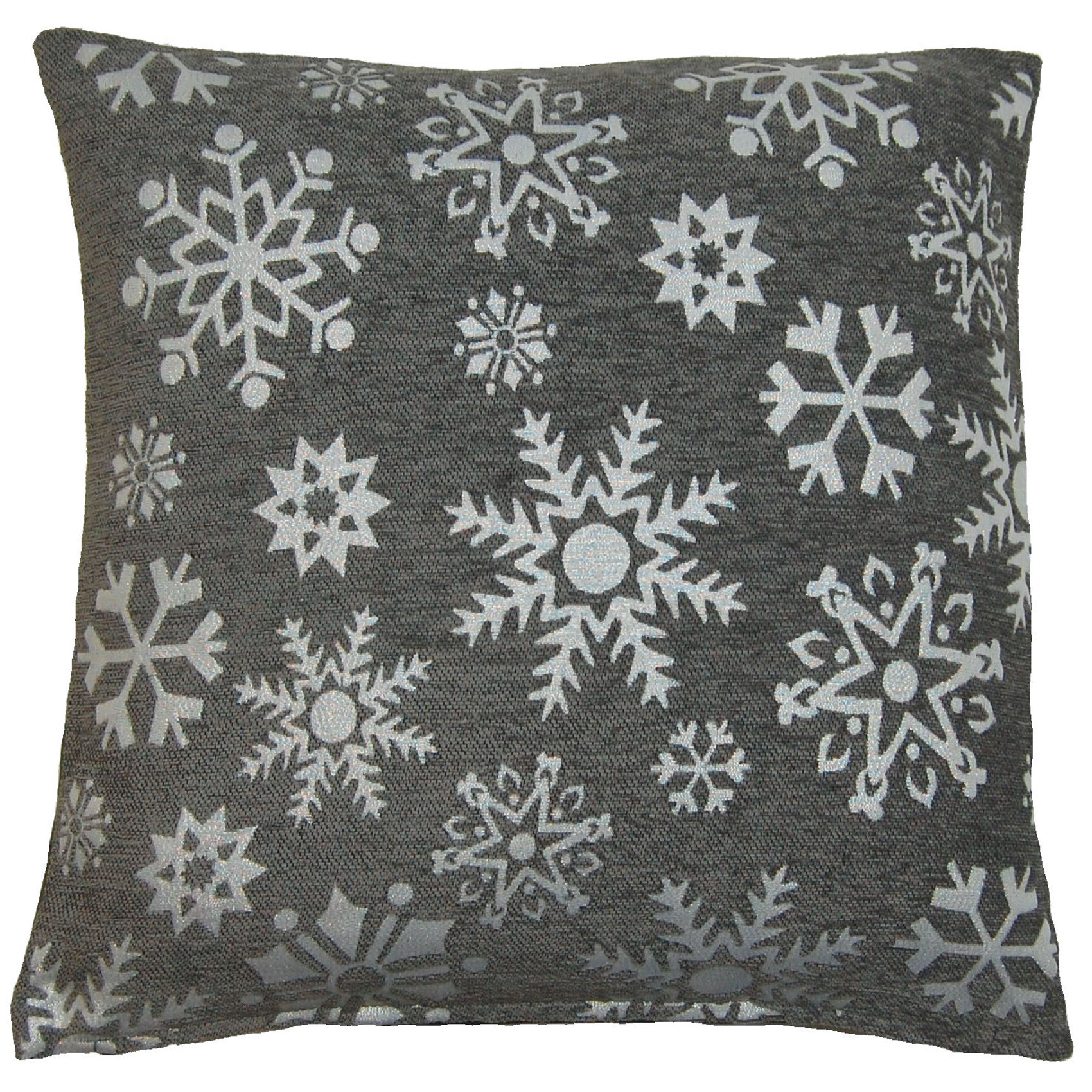 2 X Cushion Covers Sparkly Reindeer Snowflake Festive