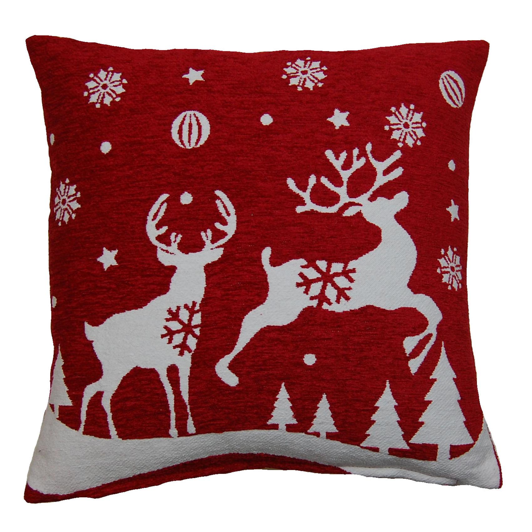 festive christmas cushion covers decorative xmas festive. Black Bedroom Furniture Sets. Home Design Ideas
