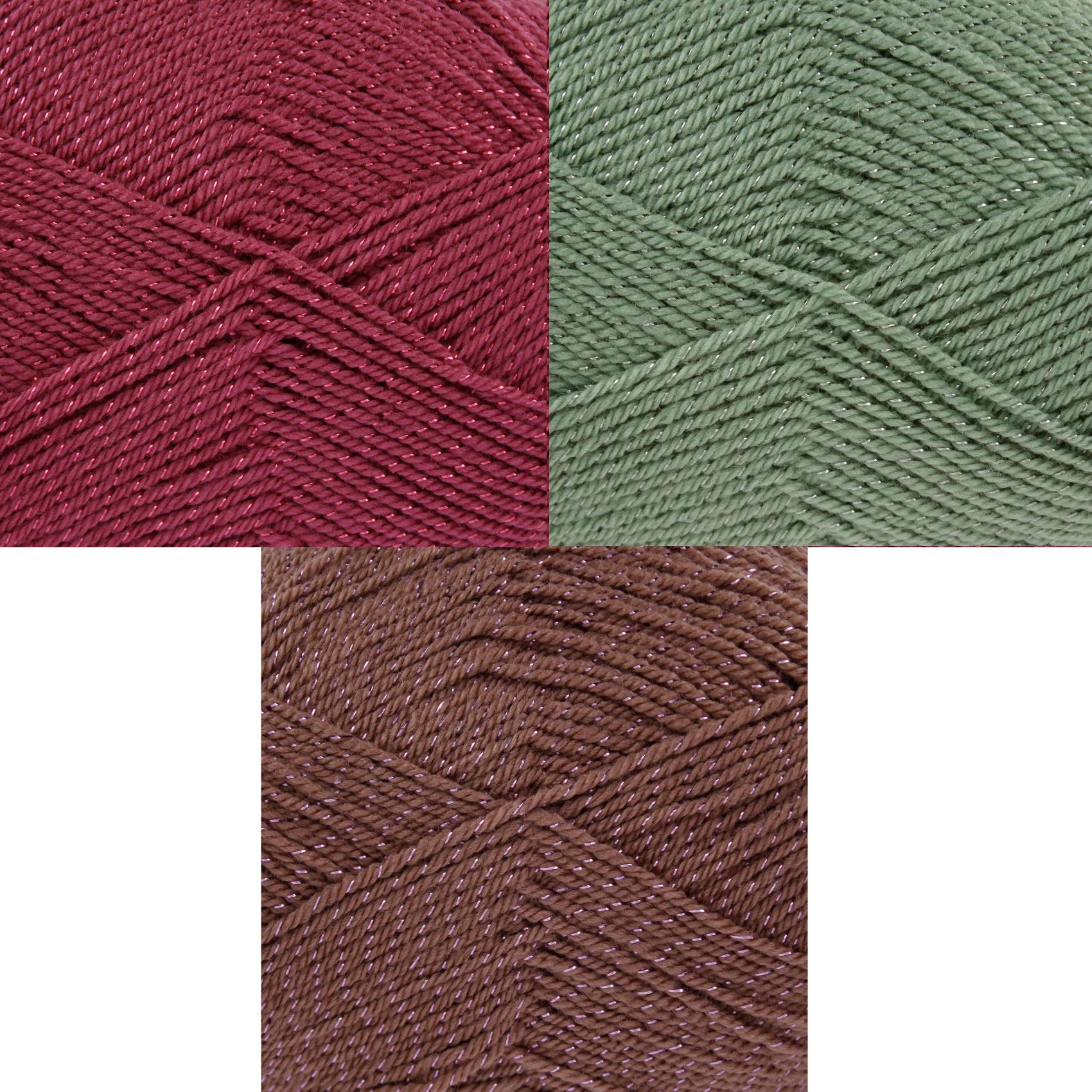 Free King Cole Knitting Patterns : 100g Ball King Cole Glitz DK Free Knitting Pattern Acrylic Sparkly Glitter Ya...