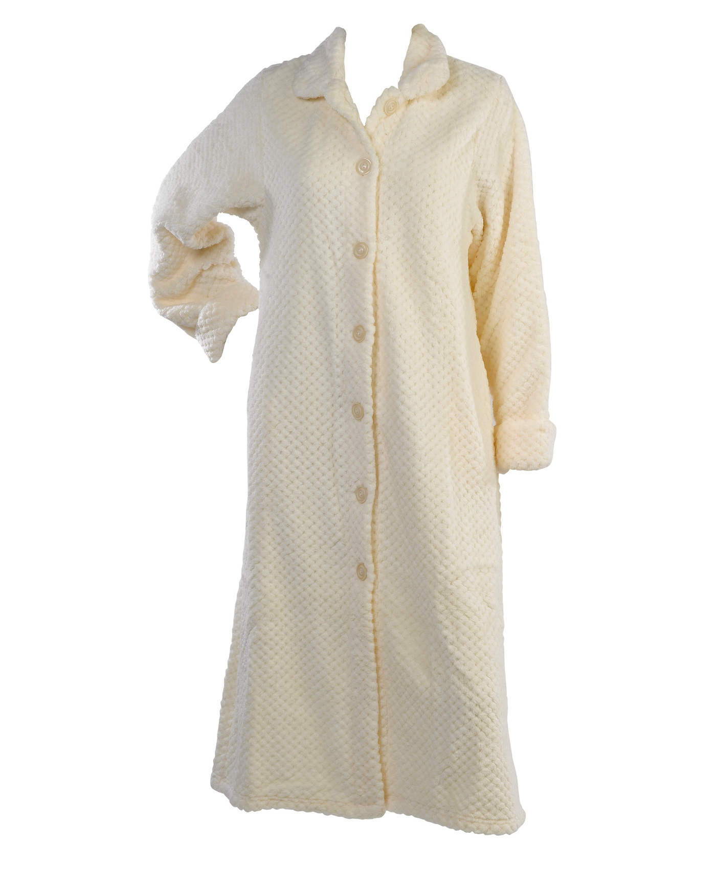 de98a91101 Soft Waffle Fleece Bed Jacket or Dressing Gown Robe Ladies ...