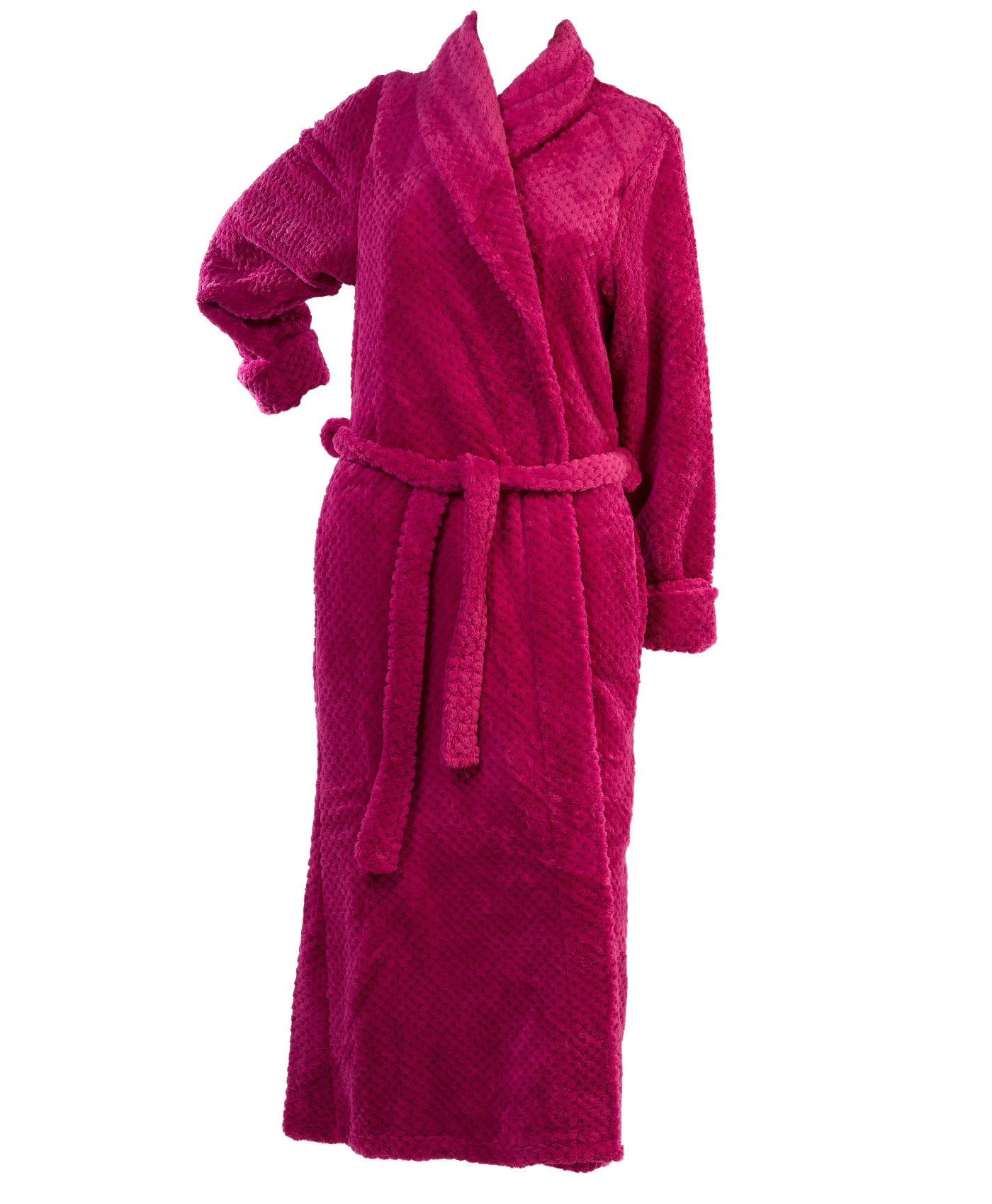 Soft Waffle Fleece Bed Jacket or Dressing Gown Robe Ladies ...