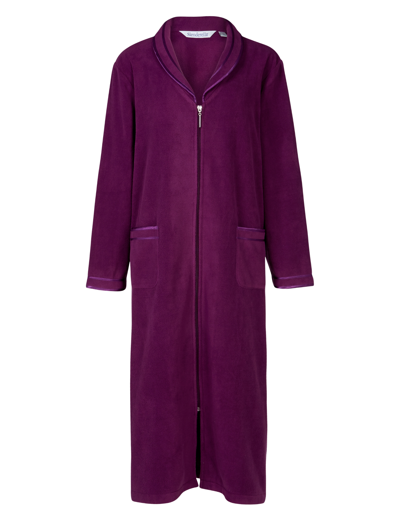 Slenderella femmes anti peluche fermeture clair robe de - Robe de chambre fermeture eclair femme ...