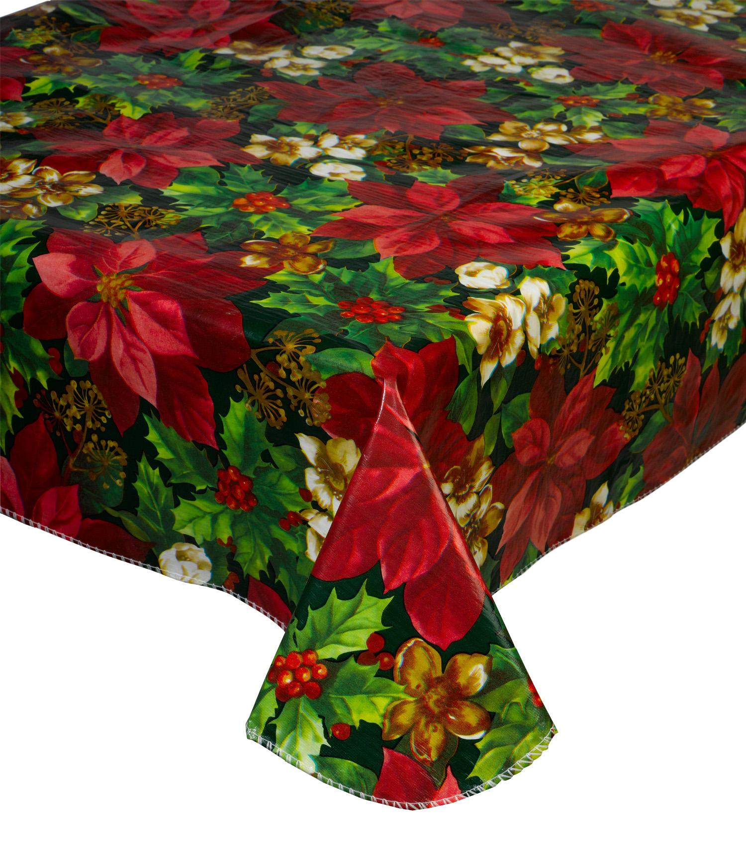 Christmas PVC Tablecloth Flannel Back Festive Xmas Dining  : red poinsettia pvc tablecloth christmas xmas festive tablecloth table linen from www.ebay.co.uk size 1500 x 1700 jpeg 811kB