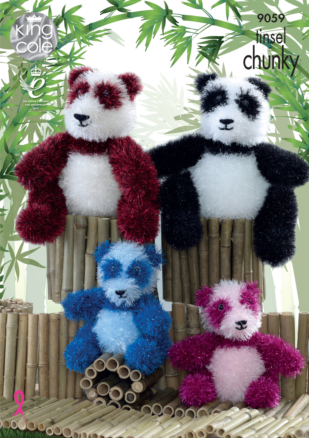 Free Knitting Patterns Panda Toy : Tinsel Chunky Knitting Pattern Adult or Baby Panda Bear Toys King Cole 9059 ...