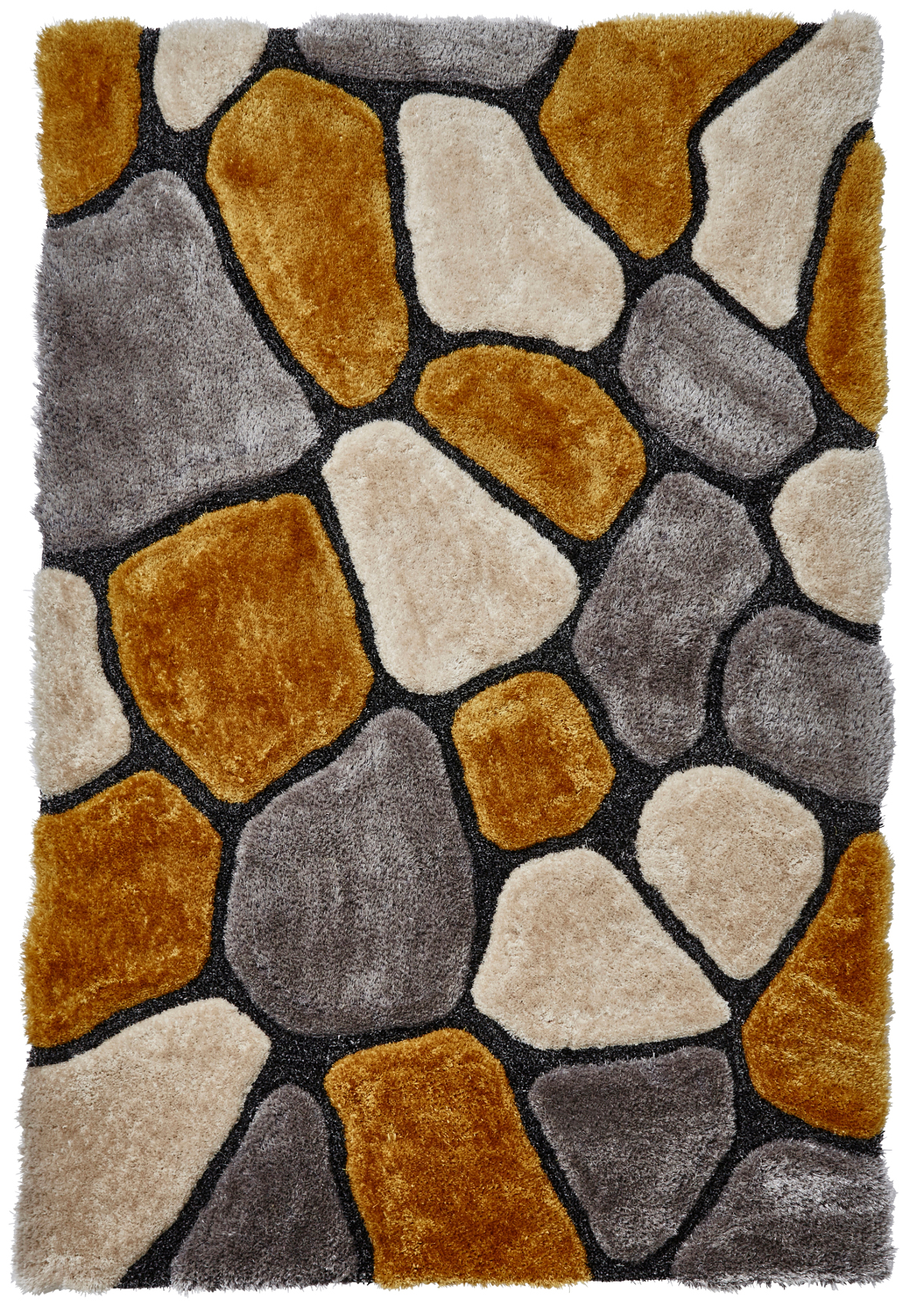Shaggy Pile Pebble Effect Noble House Rug Large Centre