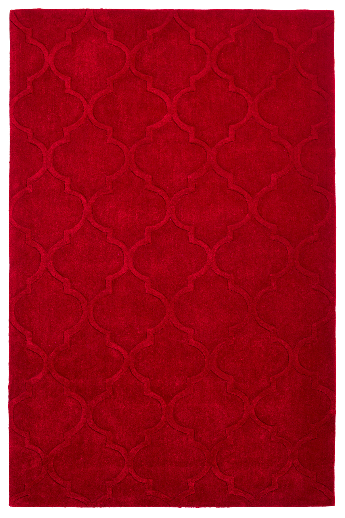 Modern Arabesque Rug 100% Acrylic Hand Tufted Trellis Pattern Mat Home Décor