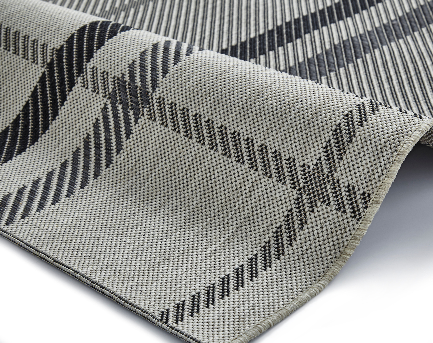 Breeze Tartan Check Rug Flat Weave Polypropylene Durable