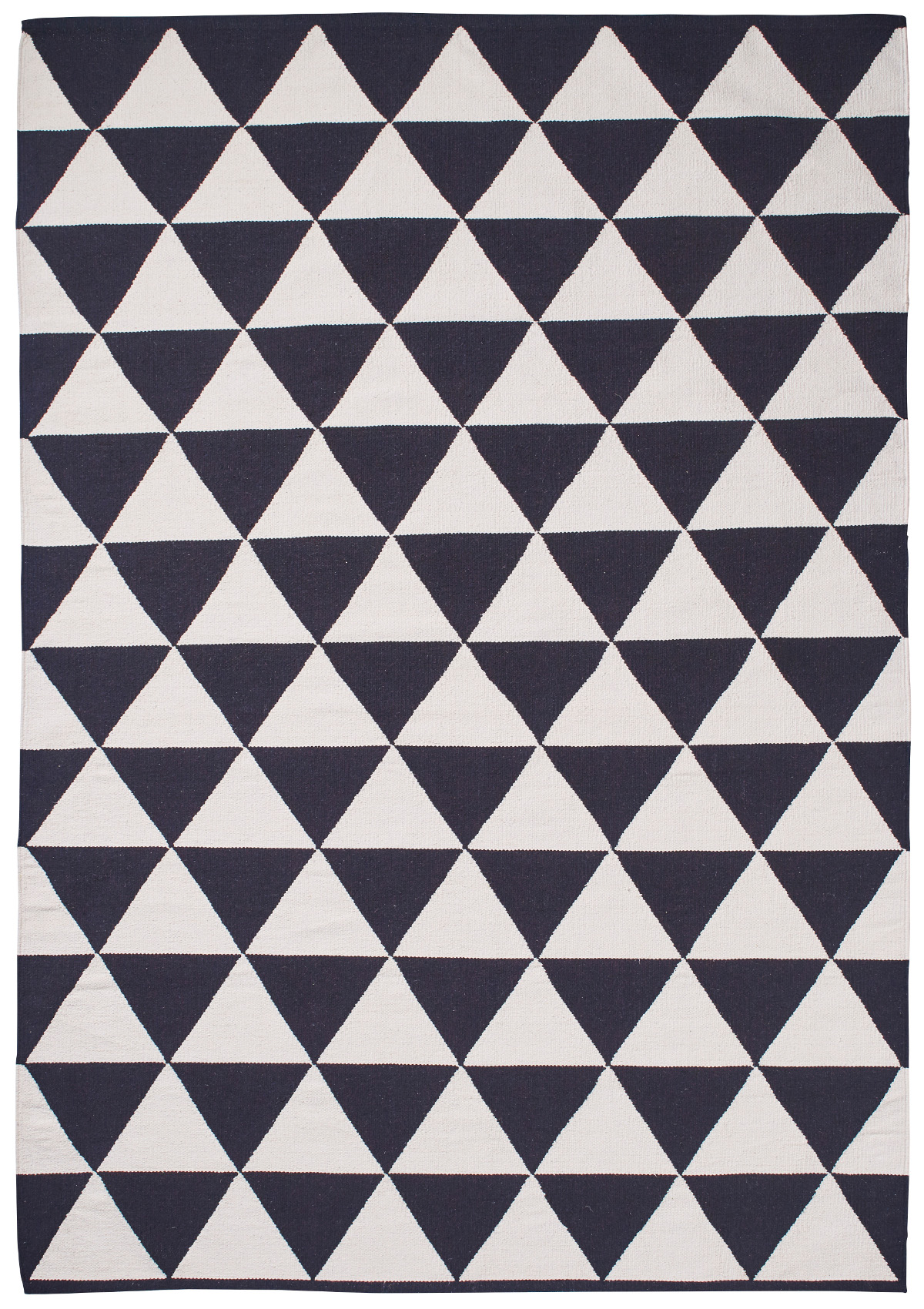 Monochrome Triangle Manhattan Rug 100 Wool Hand Knotted