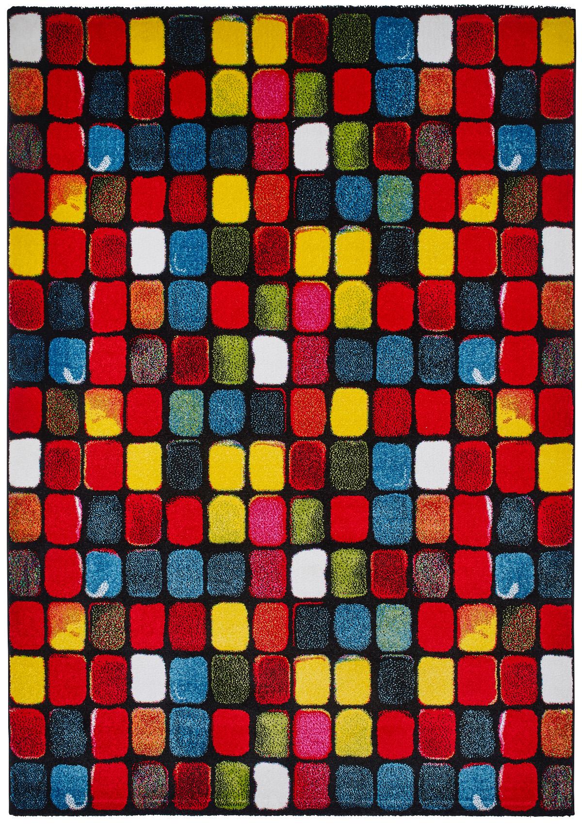 Vibrant Modern Sunrise Rug Bright Multi Coloured Floor Mat