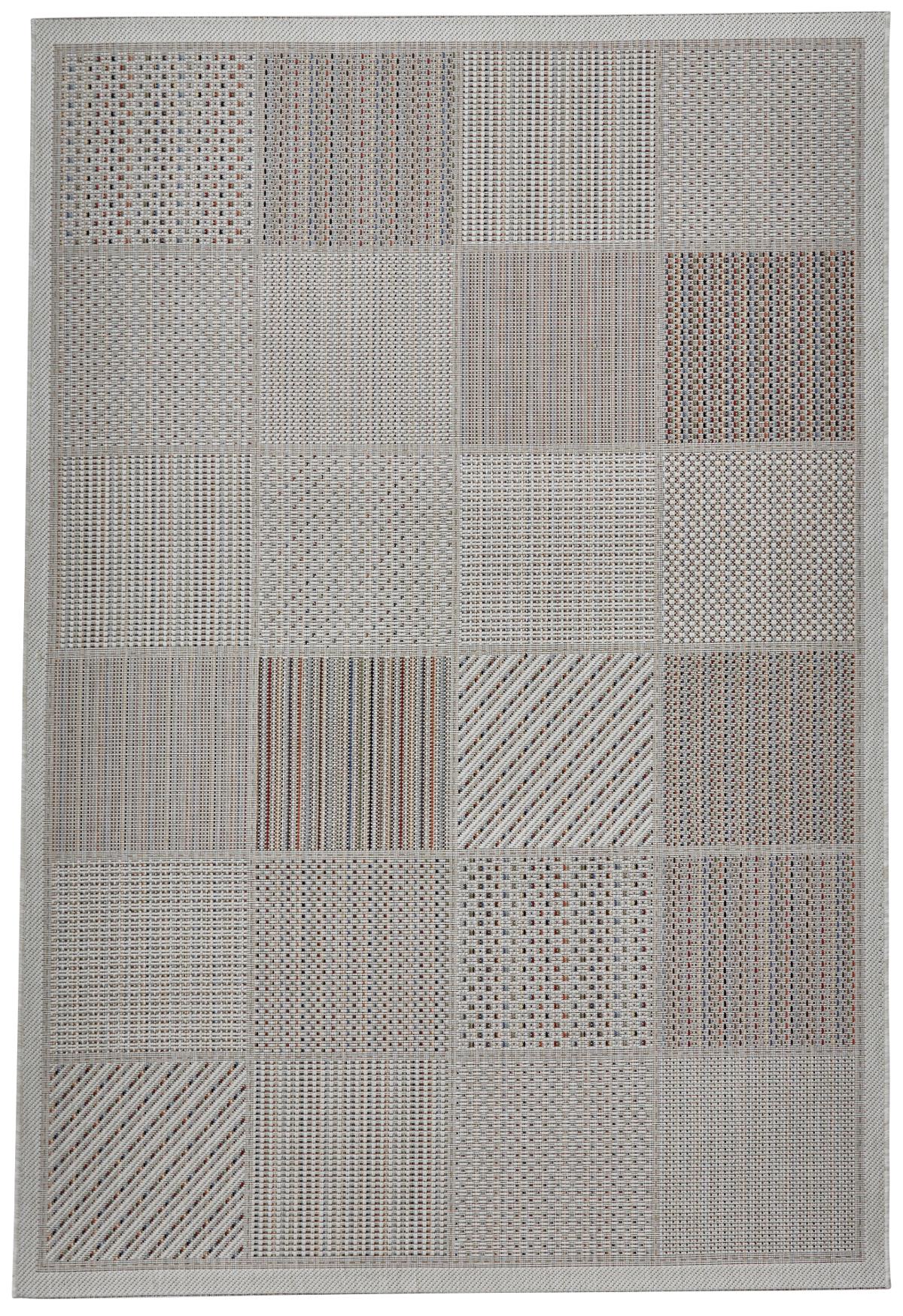 Neutral Vegas Rug Durable Flat Weave Polypropylene Floor