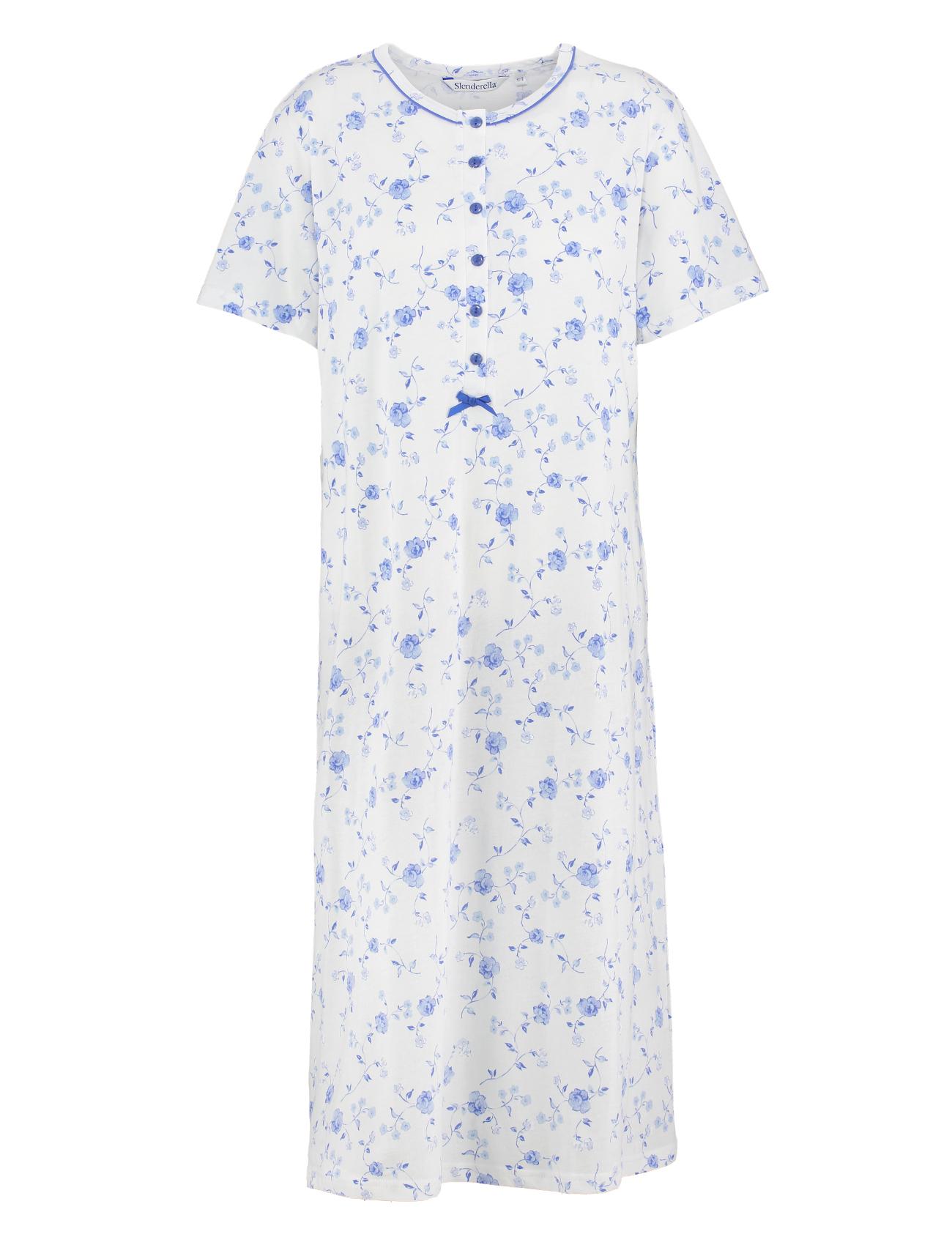Black t shirt nightdress - Ladies Slenderella Jersey Cotton Floral Nightdress Short Sleeve