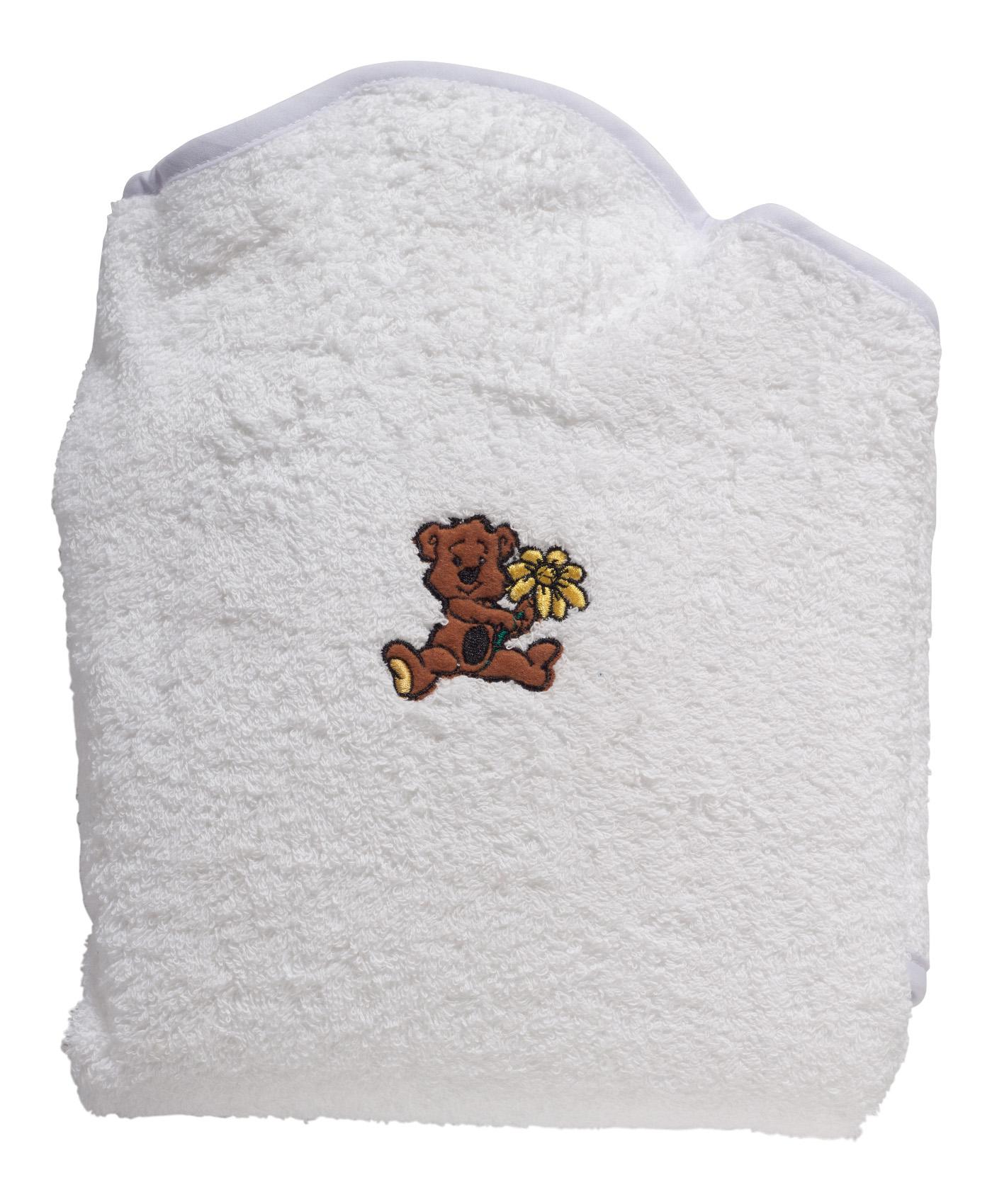 Baby Bath Towel Apron Super Soft 100 Cotton Hands Free Splash Wrap