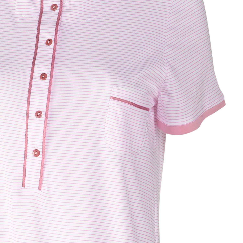 Womens Striped Nighty Short Sleeve Jersey Cotton Nightdress Ladies Nightwear