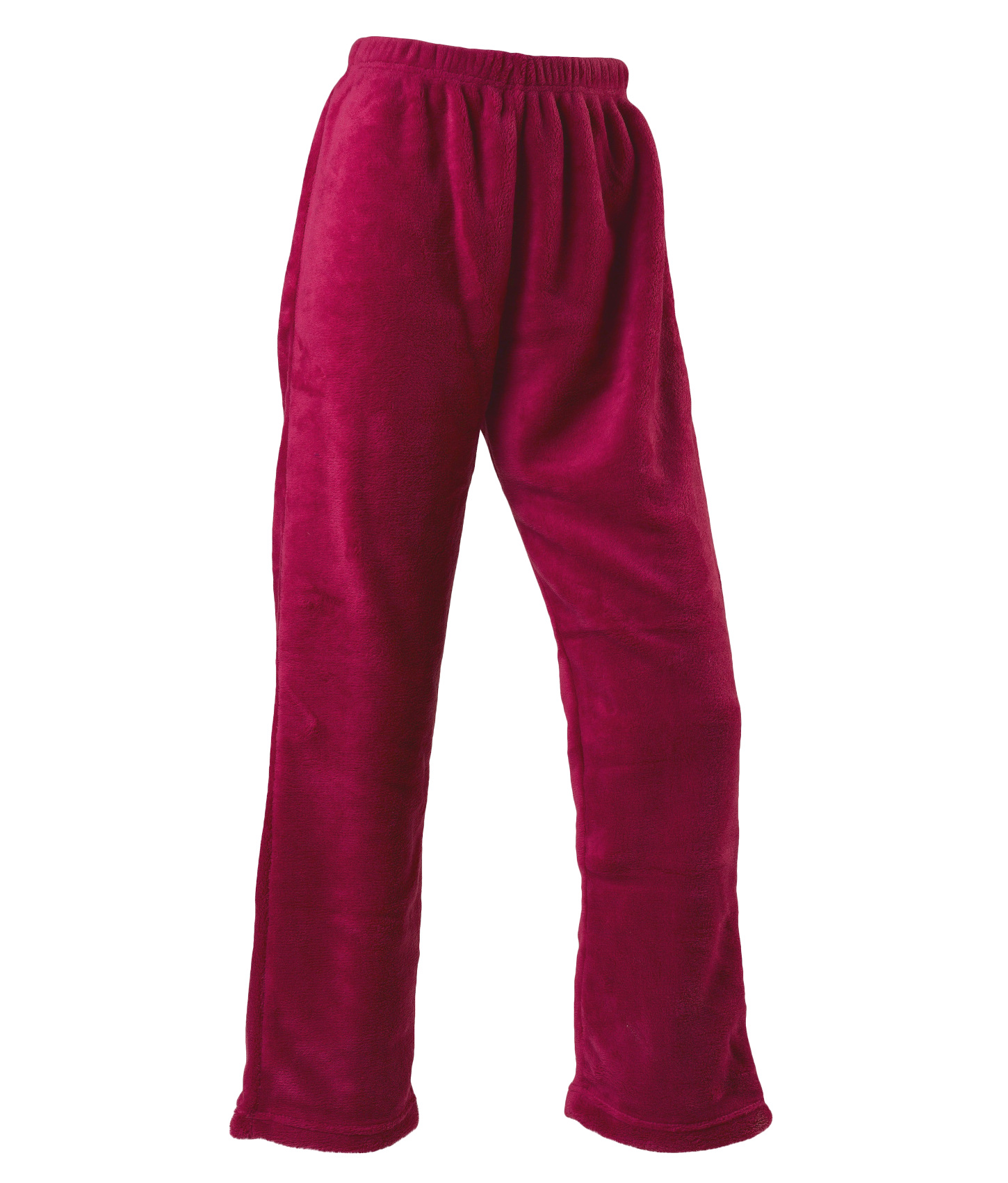 Lounge Pants Womens Soft Thick Coral Fleece Plain PJ Trouser Bottoms Slenderella