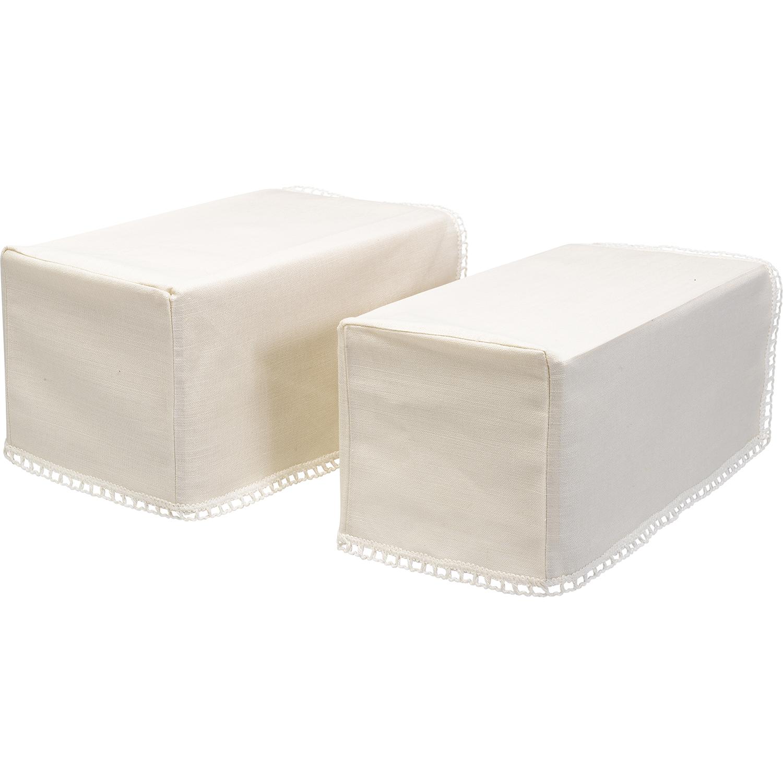 Linen Mix Arm Caps /& Chairback or Settee Back Set Furniture Antimacassar Beige