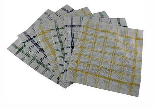 100 Cotton Heavy Duty Dish Cloths Checked Bar