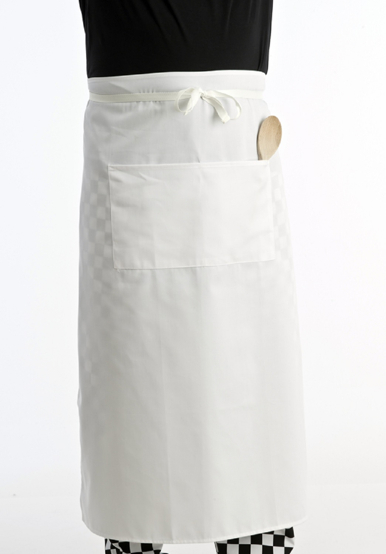 White apron ebay.ca - Bar Plain White Apron Pocket Professional Restaurant Waiters