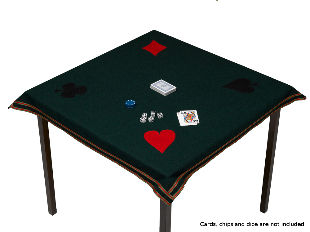 Green Poker Baize Wool Card Tablecloth 36