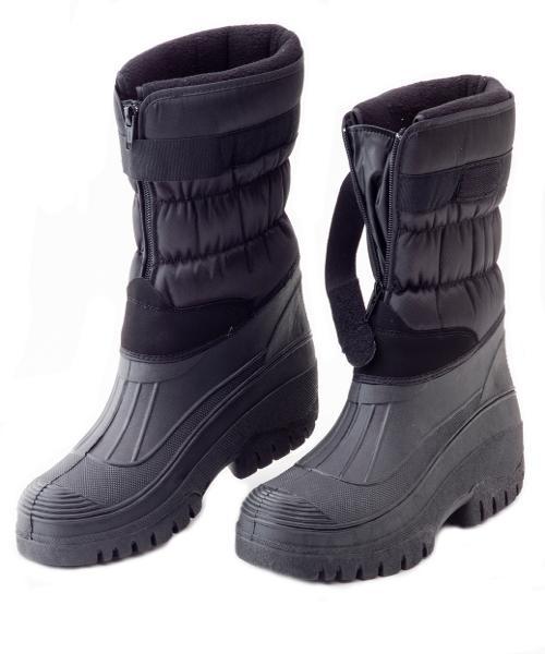 Mens Fleece Lined Winter Snow Muck Boots Boys Yard Stable Zip Up ...