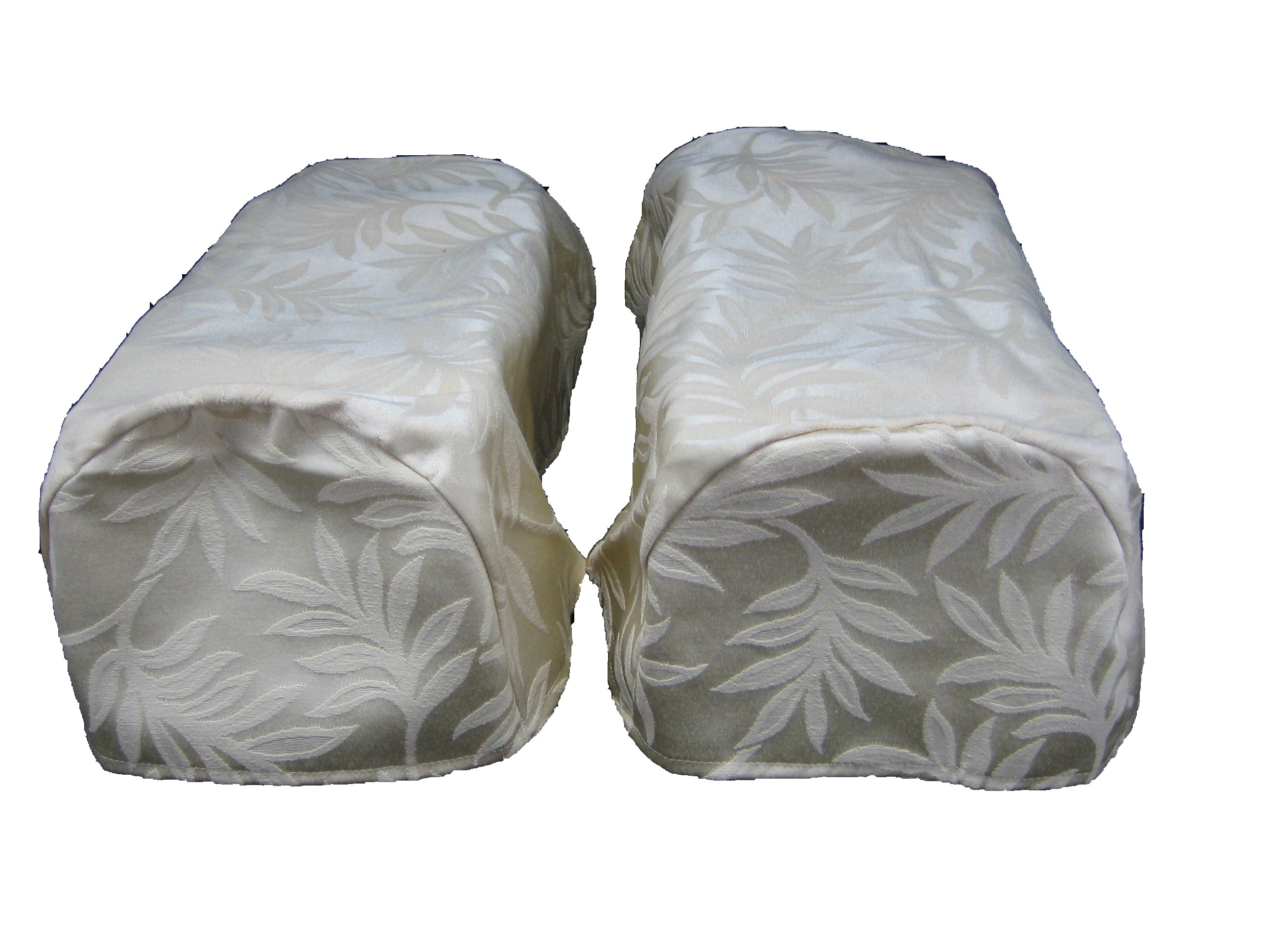 pair ivory arm cap chair settee covers decorative ebay