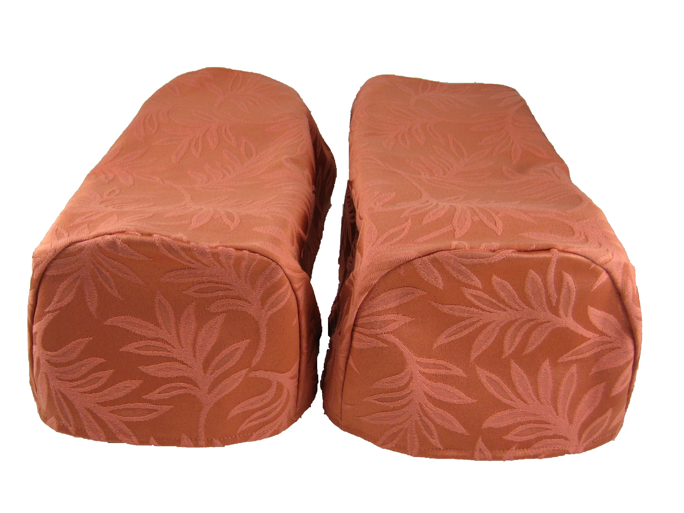 pair terracotta arm cap chair settee covers decorative