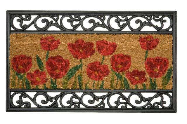 Wrought Iron Effect Rubber Amp Natural Coir Traditional