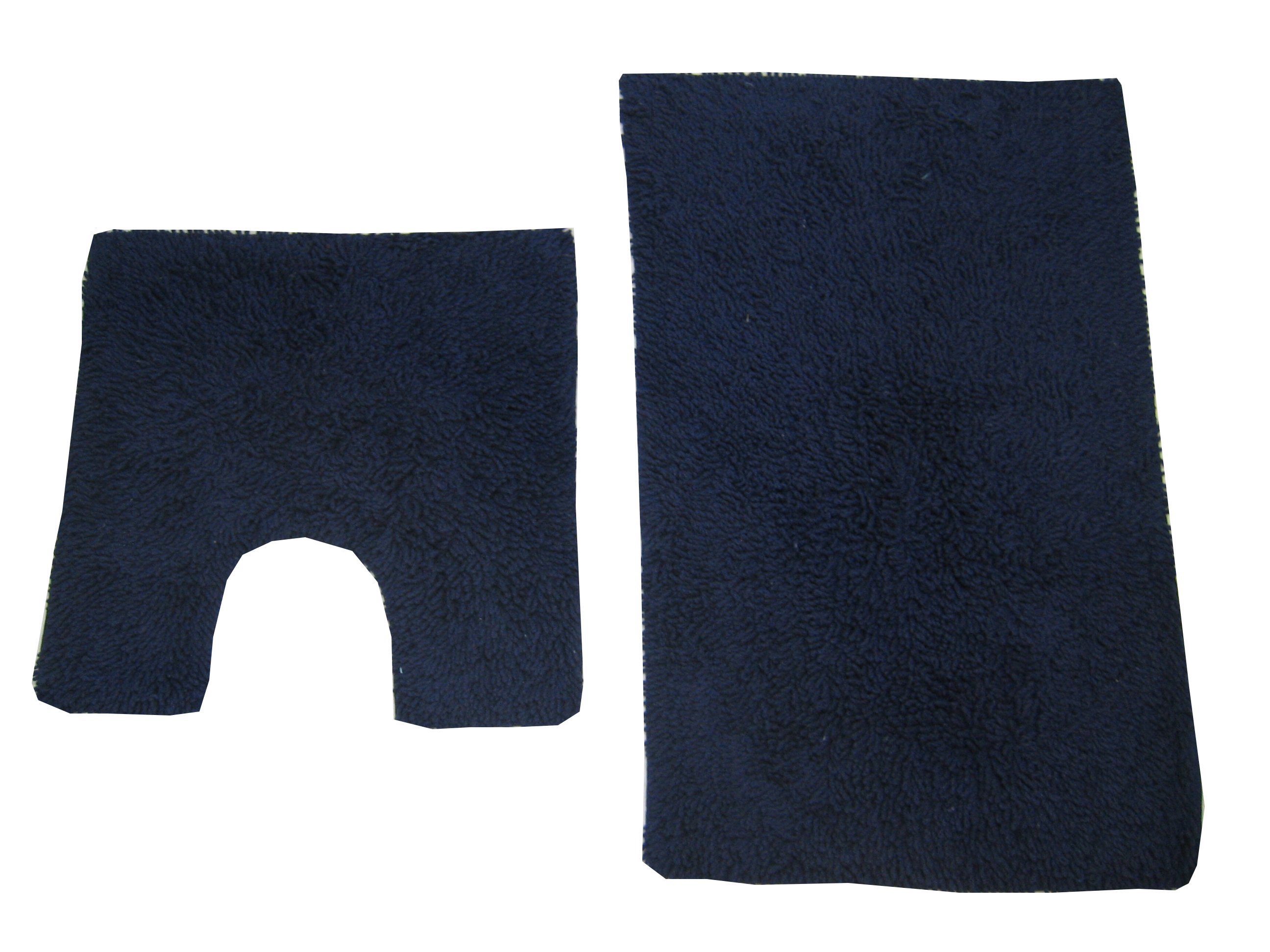 Bath Mat Pedestal Rug Set Cotton Tumble Twist Navy Blue Ebay