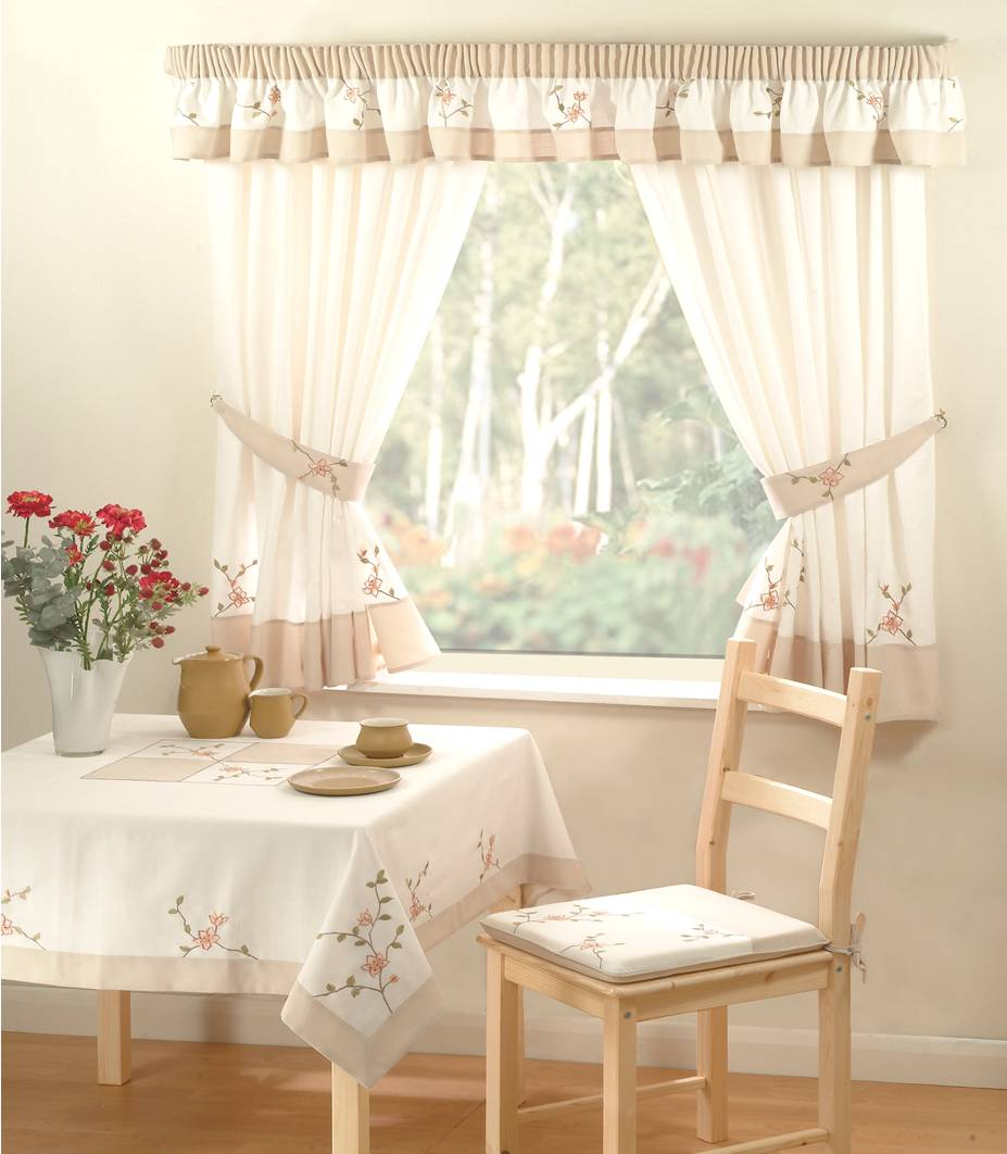 "Country Kitchen Curtains Tie Backs 46? X 54"" Drop Flora"