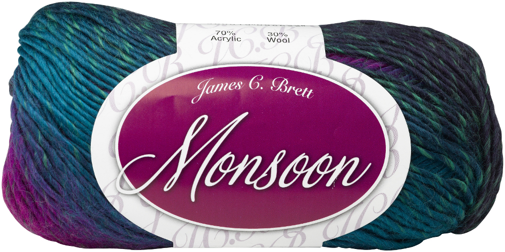 Knitting Patterns For Monsoon Wool : James Brett Vibrant Acrylic Wool Monsoon Aran Modern ...