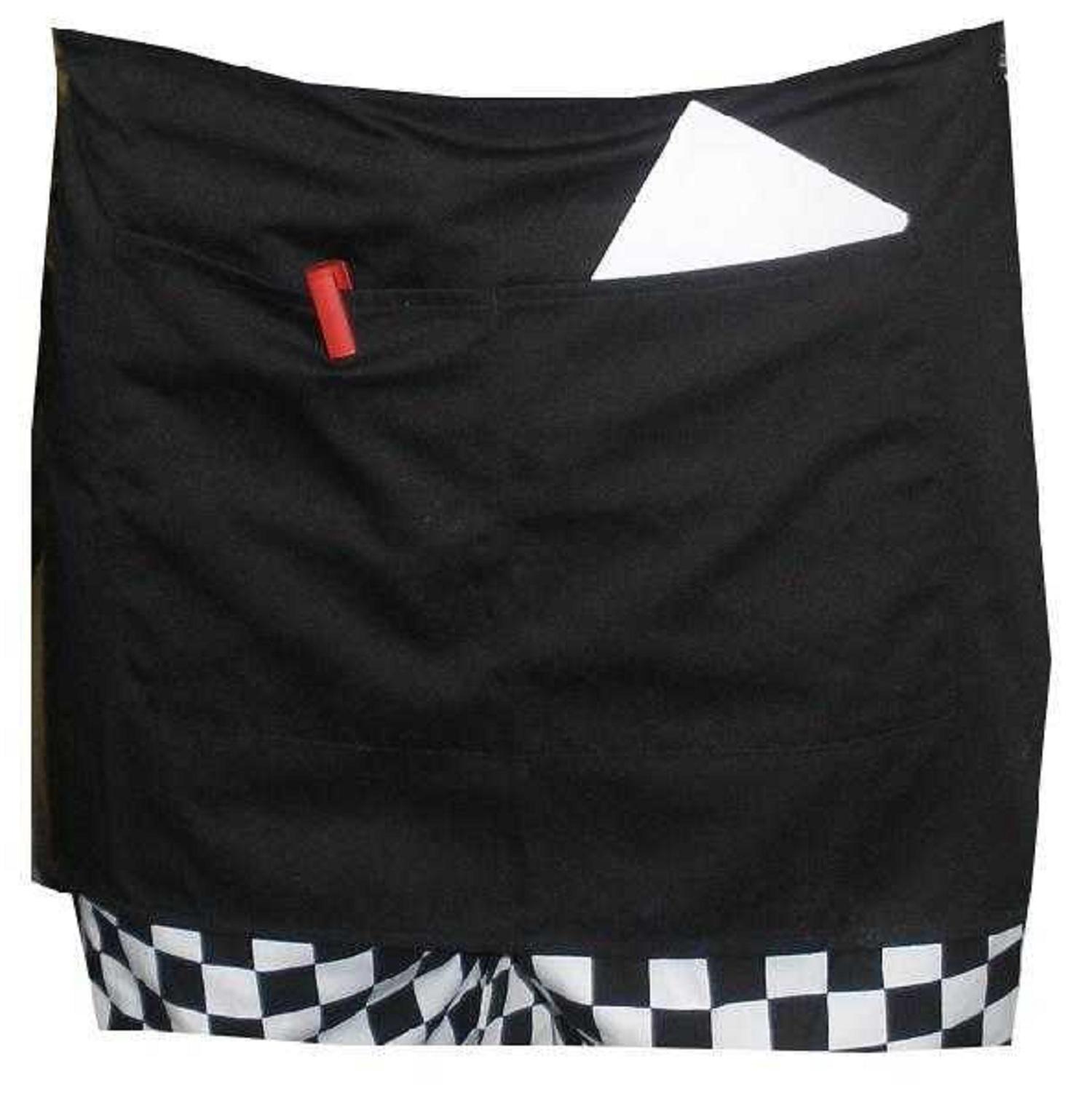 White half apron ebay - Black Short Waist Apron Waiter Waitress Server Pinny 27 5 X 14 Split Pocket