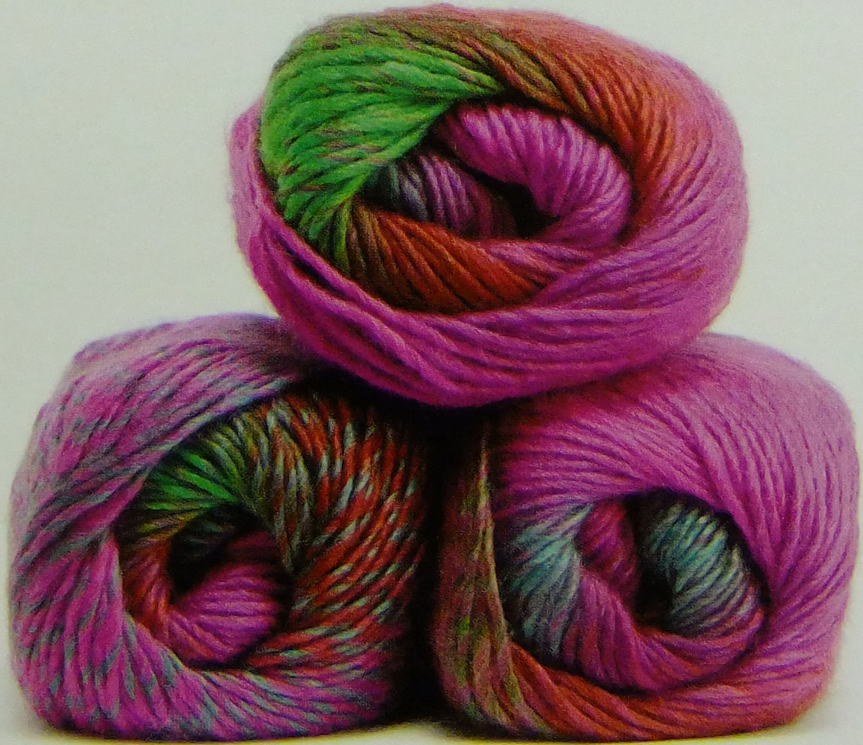 product description this vibrant and bold aran yarn is a