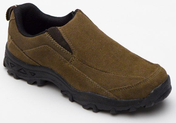 slip on casual trainer shoes suede brown mens uk 6 ebay