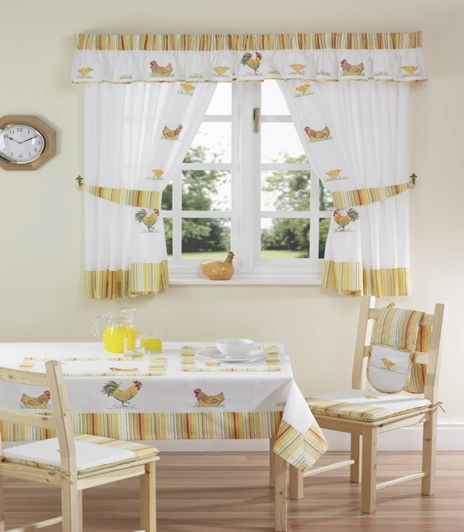 Kitchen Curtain Pattern - Kitchen Curtain Ideas - Kitchen Curtain