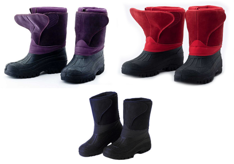 Fleece Lined Muck Boot Women Faux Suede Stable Horse Riding ...